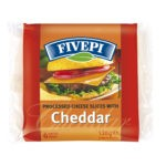 Fivepi processed cheese with Cheddar