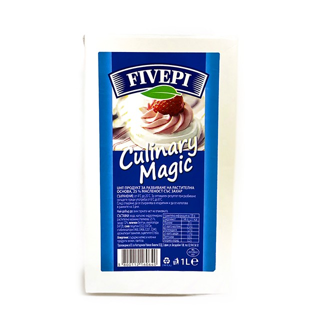 UHT Pastry cream with sugar  Culinary magic 25%
