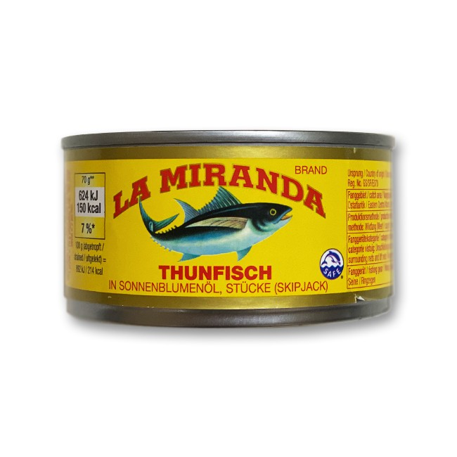Tuna fish pieces in sunflower oil