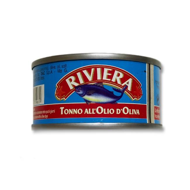 Tuna fish pieces in olive oil