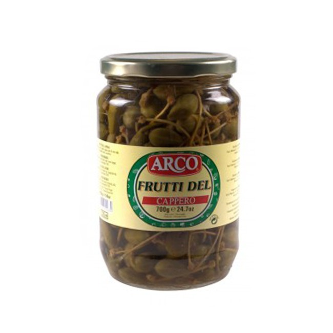 Capers with handles in vinegar