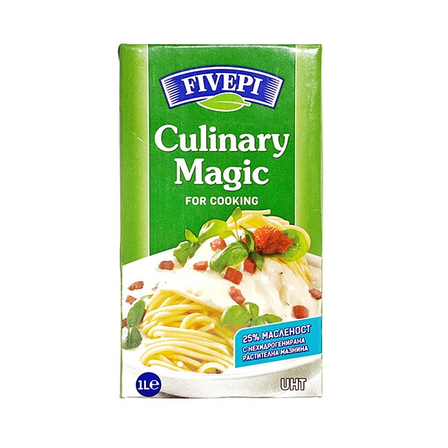 UHT cream for cooking  Culinary magic 25%