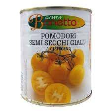yellow dried tomatoes